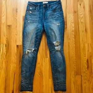 """Madewell 9"""" High Rise Skinny Jeans Size 28"""